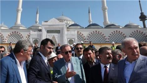 Recep Tayyip Erdoğan, Çamlıca Camisi'ni inceledi