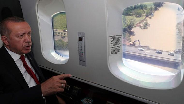Cumhurbaşkanı Erdoğan, Ordu'da incelemelerde bulundu