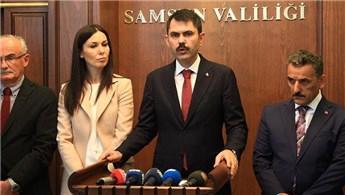 Bakan Kurum, Samsun'daki dönüşüm noktalarını inceledi