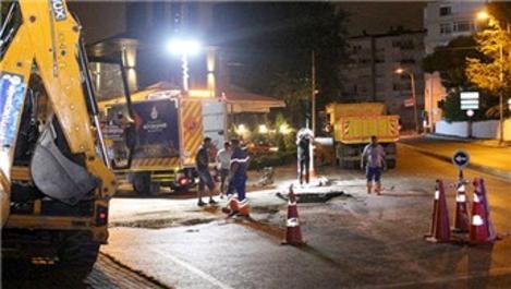 Beşiktaş Nispetiye Caddesi'ndeki göçük kapatıldı!