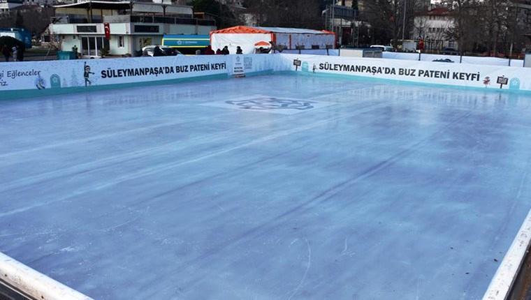 Trakya'nın en büyük buz pateni pistinde sona gelindi!