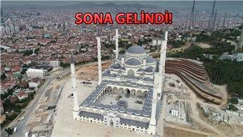 Çamlıca Camisi'nin son durumu havadan görüntülendi