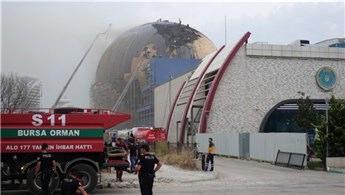 Gökmen Uzay Havacılık ve Eğitim Merkezi inşaatında yangın çıktı