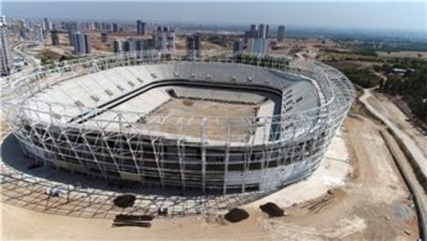 Adana'da yeni stadın inşaatı sürüyor