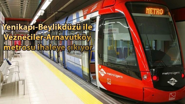 İstanbullulara müjde! İki metro hattı daha geliyor