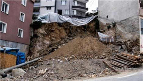 Bursa'da toprak kayması meydana geldi