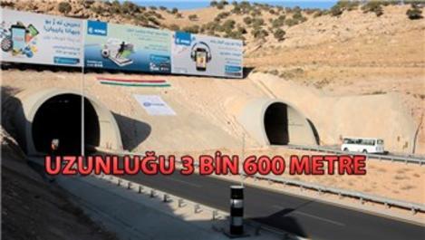 Limak İnşaat tarafından yapılan Zaho Tüneli açıldı