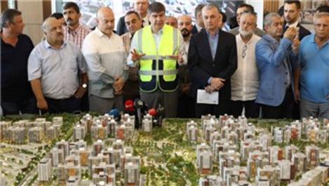 Menderes Türel, Sur Yapı Antalya Projesi'ni ziyaret etti