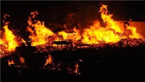 Kocaeli'de palet fabrikasında yangın!