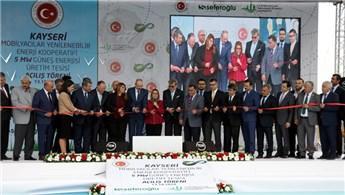 Kayseri Güneş Enerjisi Üretim Tesisi'nin açılışı yapıldı