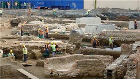 Beşiktaş'ta üniversitenin inşaat alanında tarihi kalıntı bulundu