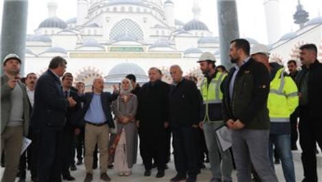 Cumhurbaşkanı Erdoğan, Çamlıca Camisi'ne geldi