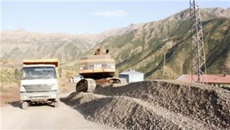 Hakkari Dağlıca'da yollar asfaltlandı
