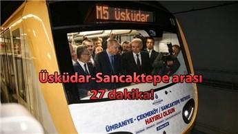 Üsküdar-Çekmeköy metrosunun 2. etabı açıldı