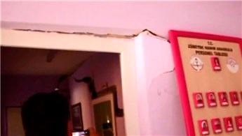 Samsun'da bir anaokulunun duvarında çatlaklar oluştu