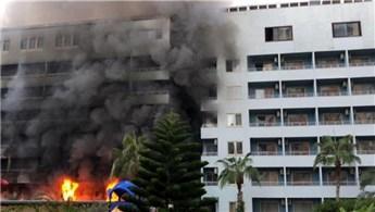 Alanya'da Grand Santana Otel'de yangın!