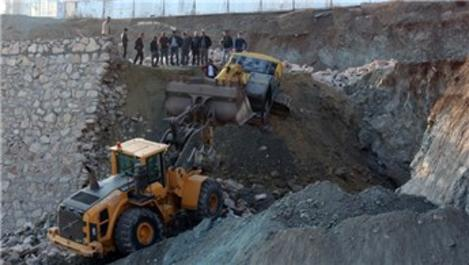 Hatay'da inşaat sahasında göçük