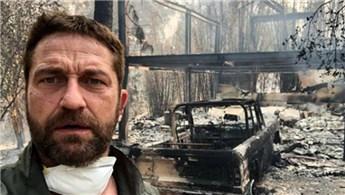 Dünyaca ünlü oyuncu Gerard Butler'in evi kül oldu