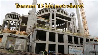 Taksim Camisi'nde ince işçilik başladı