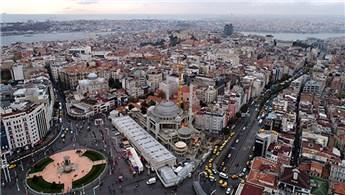 Betonarme yapısı biten Taksim Camii havadan görüntülendi