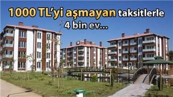 İşte TOKİ'nin 1000 TL'den az taksitli evleri!