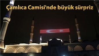 Çamlıca Camisi'ne Mevlid Kandili'nde mahyalar asıldı