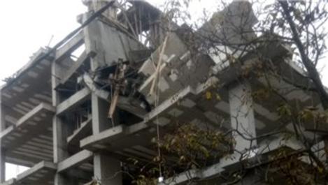 Tuzla'da bir inşaatta çökme meydana geldi