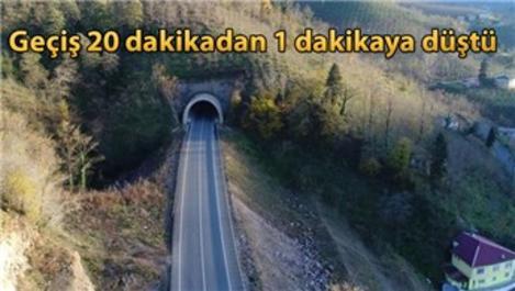 Topçam Tüneli trafiğe açıldı