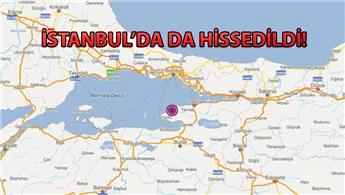 Marmara'da 4.1 büyüklüğünde deprem oldu