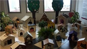 Arel Koleji örencileri sokak kedileri için ev yaptı