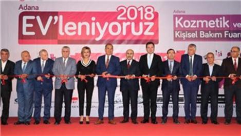 """Adana'da """"EV'leniyoruz, Kozmetik ve Kişisel Bakım Fuarı"""" açıldı"""