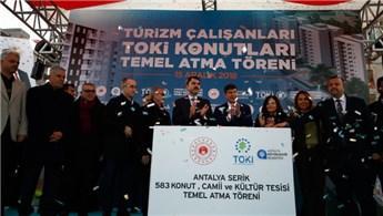 Antalya'da dar gelirli turizm çalışanlarına TOKİ konutu!