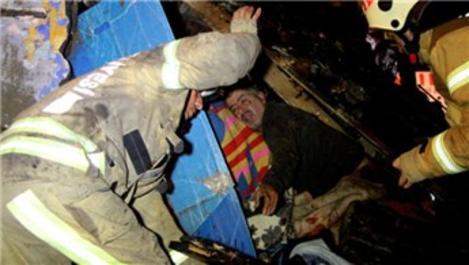 Şişli'de gecekondu çatısı çöktü
