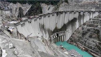 Yusufeli Barajı'nın yüksekliği 50 metreye ulaştı