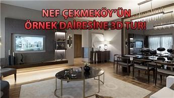 Nef Çekmeköy'ün 3+1 dairesini 3D görüntüledik