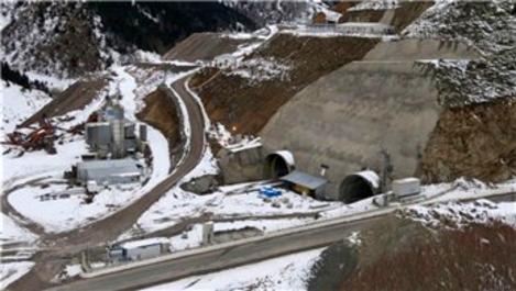 Eğribel Tüneli'nin tamamlanmasına 95 metre kaldı