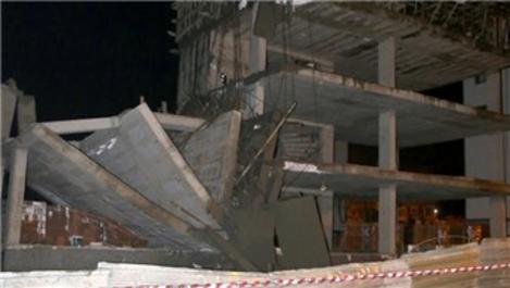 Sultanbeyli'de 4 katlı inşaatta çökme!