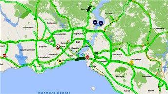 İstanbul'da trafik yoğunluğu yüzde 1'e düştü