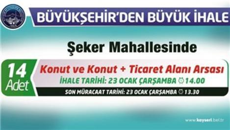 Kayseri'de 14 arsa satışa sunulacak