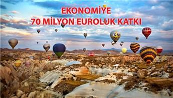 Kapadokya'daki balon turlarına 537 bin turist katıldı