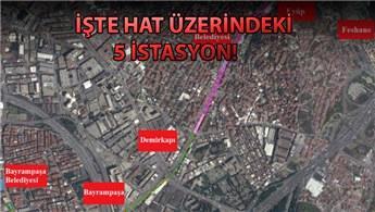 Eyüp-Bayrampaşa arası tramvay ile bağlanıyor
