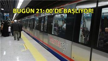 İBB duyurdu, Marmaray Hattı'nda değişiklik!