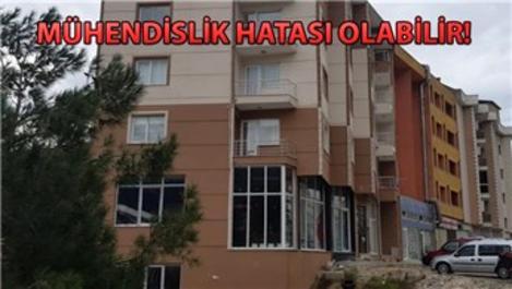 Bursa'da 5 katlı bina çökme tehlikesi ile karşı karşıya