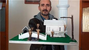 İnsanların hayallerindeki evlerin maketini yapıyor!