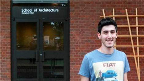 Genç mimar, ABD'den 2 ödül aldı