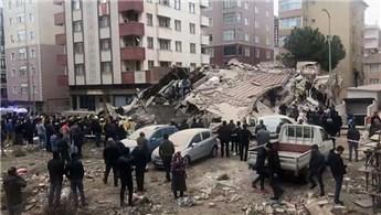 Kartal'da 7 katlı bina çöktü!
