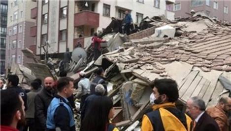 İstanbul Valisi'nden çöken binaya ilişkin sevindiren haber!