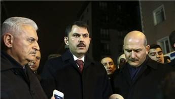 Murat Kurum, çöken binada incelemede bulundu!