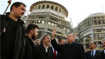 Cumhurbaşkanı Erdoğan Taksim Camisi'ni inceledi