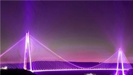 Yavuz Sultan Selim Köprüsü mora bürünecek!
